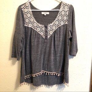 Umgee | Crochet Pom Pom Top